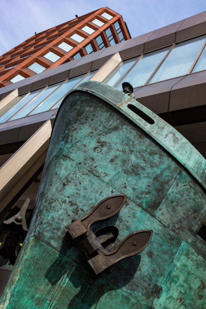 Ship sculpture by Michael Sandle International Maritime Organization, London- davewalshphoto.com