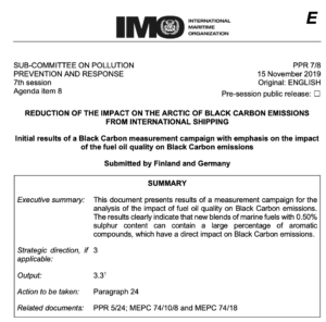 Initial results of a Black Carbon measurement campaign with emphasis on the impact of the fuel oil quality on Black Carbon emissions
