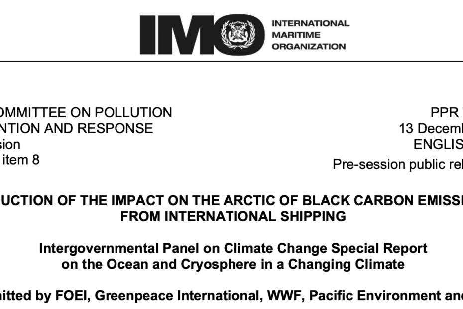 PPR 7-INF.20 - Intergovernmental Panel on Climate Change Special Report on the Ocean and Cryosphere in a Changing Climate