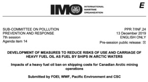 Impacts of a heavy fuel oil ban on shipping costs for Canadian Arctic mining operations
