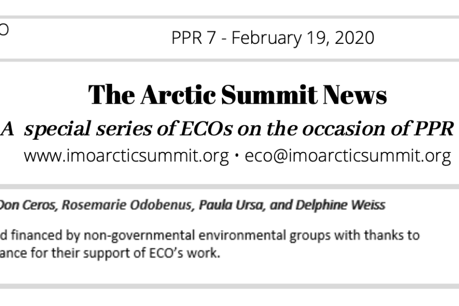 Arctic Summit News: A Siberian Yup'ik Inuit's perspective: