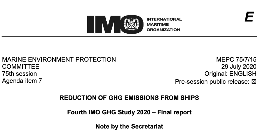 Reduction of GHG Emissions from Ships: Fourth IMO GHG Study 2020 – Final report