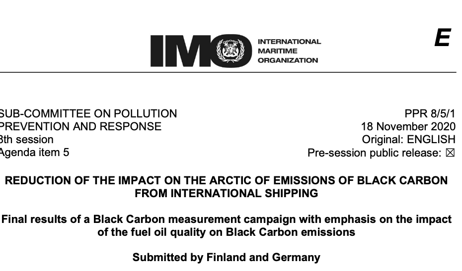 Final results of a Black Carbon measurement campaign with emphasis on the impact of the fuel oil quality on Black Carbon emissions