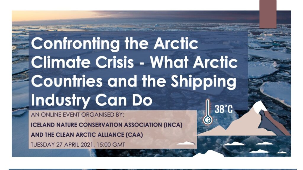 Webinar: Confronting the Arctic Climate Crisis - What Arctic Countries and the Shipping Industry Can Do