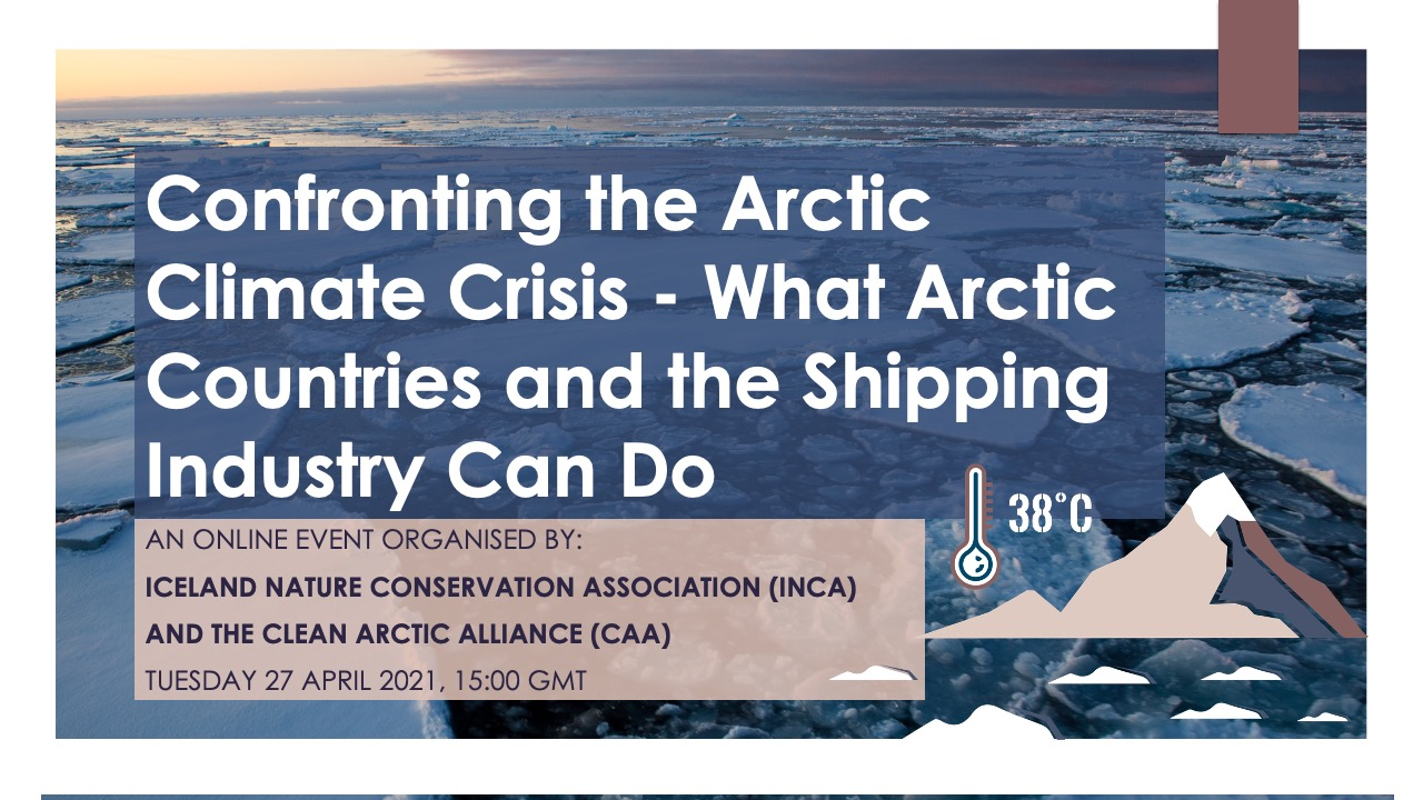 Webinar: Confronting the Arctic Climate Crisis – What Arctic Countries and the Shipping Industry Can Do